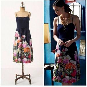 Anthro Aven Bloom Silk Moulinette Souers Dress